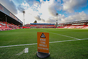 General stadium view inside Griffin Park before the EFL Sky Bet Championship match between Brentford and Bolton Wanderers at Griffin Park, London, England on 22 December 2018.