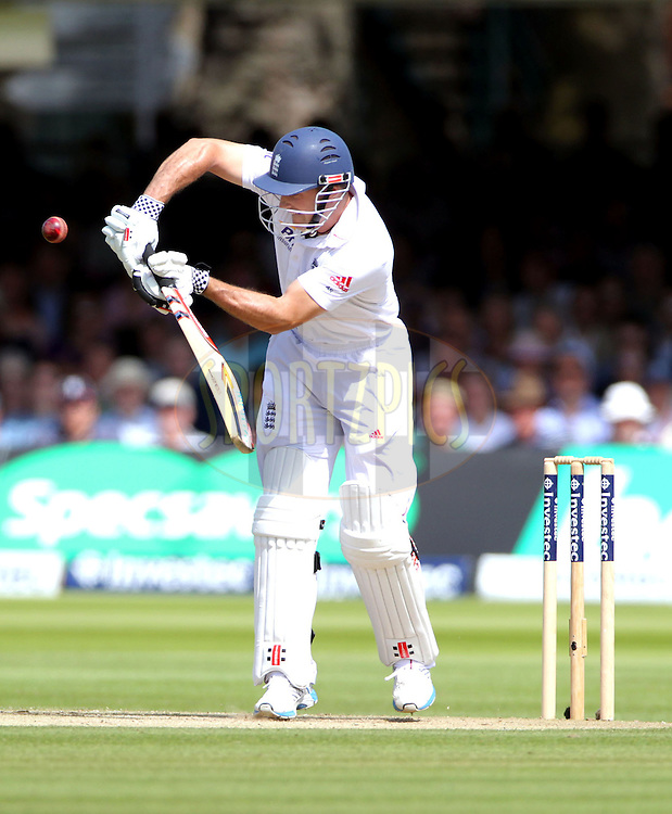 © Andrew Fosker / Seconds Left Images 2012 - England's Andrew Strauss (Captain)  pushes a ball into mid wicket early in the innings England v South Africa - 3rd Investec Test Match - Day 2 - Lord's Cricket Ground - 17/08/2012 - London - UK - All rights reserved