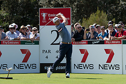 November 15, 2018 - Sydney, NSW, U.S. - SYDNEY, AUSTRALIA - NOVEMBER 15: Cameron Smith (AUS) on the second tee at Day 1 of The Emirates Australian Open Golf on November 15, 2019, at The Lakes Golf Club in Sydney, Australia. (Photo by Speed Media/Icon Sportswire) (Credit Image: © Speed Media/Icon SMI via ZUMA Press)