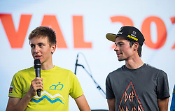 Primoz Roglic and Tadej Pogacar during the Day for the medals: Reception of Slovenian sport heroes on 30.9.2019 on Kongresni square, Ljubljana, Slovenia. Photo by Urban Meglič / Sportida