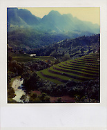 Mountainous and verdant landscape in north Vietnam, Asia