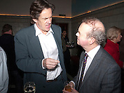 ROBERT MCCRUM; IAN HISLOP, Special preview screening of the Ghost. Introduced by the book's author Robert Harris. The Courthouse Hotel Great Marlborough St. London. 30 March 2010.