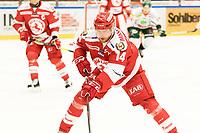 2018-12-30 | Ljungby, Sweden: Troja-Ljungby (14) Johan Lindholm during the game between Troja Ljungby and Kristianstad IK at Ljungby Arena ( Photo by: Fredrik Sten | Swe Press Photo )<br /> <br /> Keywords: Icehockey, Ljungby, HockeyEttan, Troja Ljungby, Kristianstad IK, Ljungby Arena, AllEttan Södra