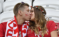 KAZAN, June 24, 2018  Fans of Poland are seen prior to the 2018 FIFA World Cup Group H match between Poland and Colombia in Kazan, Russia, June 24, 2018. (Credit Image: © He Canling/Xinhua via ZUMA Wire)