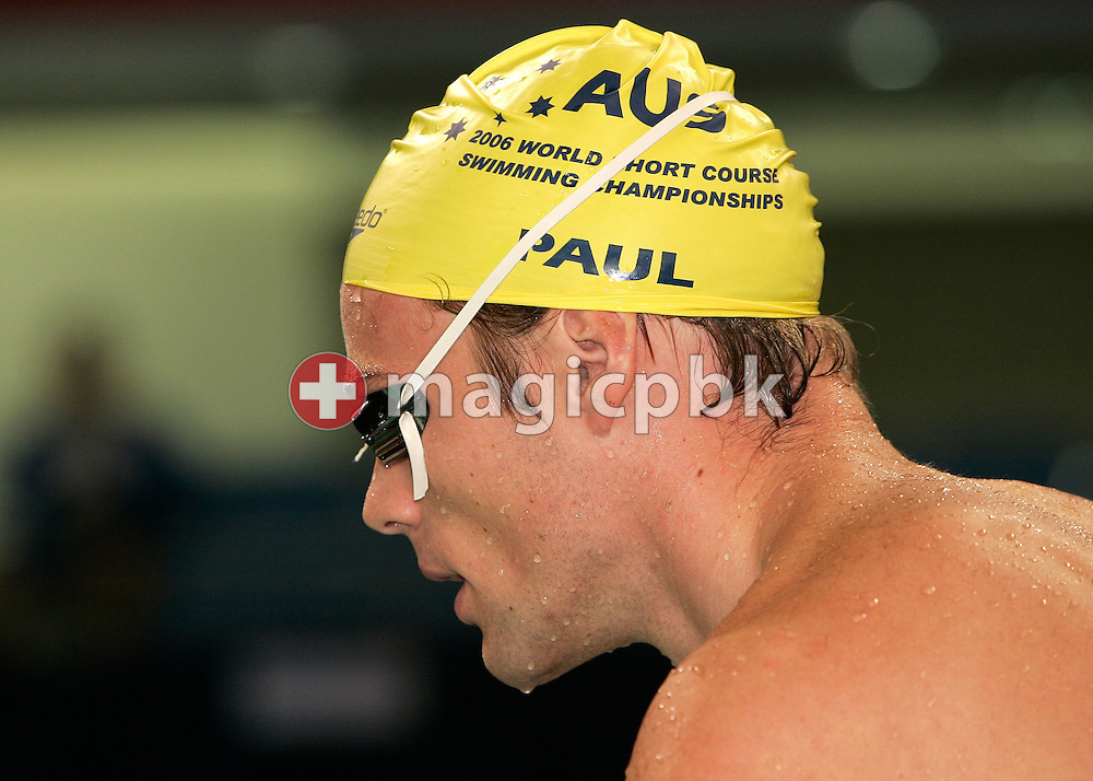 Louis PAUL of Australia during warm-up before the morning session during day two of the 8th FINA World Swimming Championships (25m) held at Qi Zhong Stadium April 6th, 2006 in Shanghai, China. (Photo by Patrick B. Kraemer / MAGICPBK)