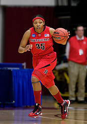 March 20, 2010; Stanford, CA, USA; Rutgers Scarlet Knights guard Brittany Ray (35) during the first half against the Iowa Hawkeyes in the first round of the 2010 NCAA womens basketball tournament at Maples Pavilion. Iowa defeated Rutgers 70-63.