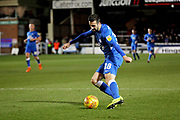 Peterborough Utd's Daniel Lafferty (18) gets in a cross during the EFL Sky Bet League 1 match between Peterborough United and Rochdale at London Road, Peterborough, England on 12 January 2019.