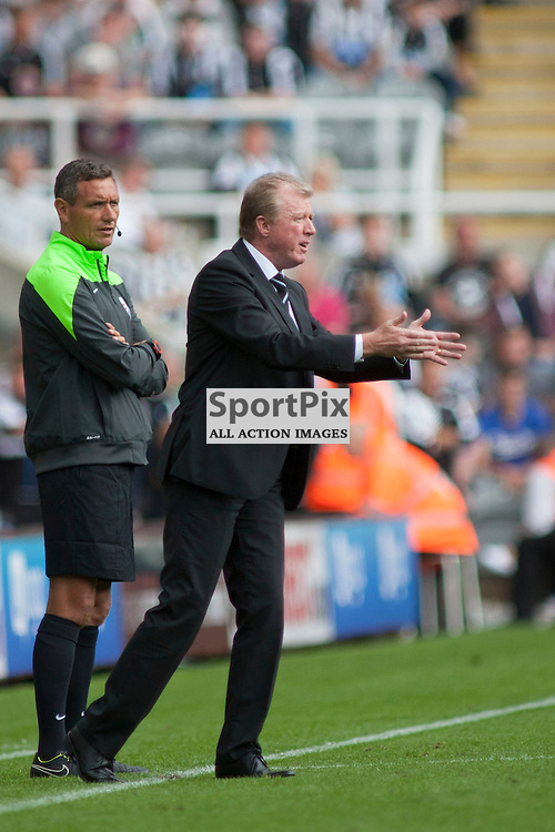 Newcastle Head Coach Steve McClaren in the Newcastle United v Southampton Barclays Premier League match at St James' Park Newcastle 09 August 2015<br />