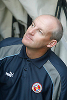 Photo: Marc Atkins.<br />Northampton Town v Reading. Pre Season Friendly. 22/07/2006. <br />Reading manager Steve Coppel checks the weather before the match.