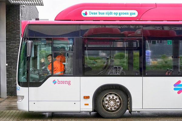 Nederland, Nijmegen, 4-1-2018Opm het terrein van Breng en Hermes, , onderdeel van vervoerder Connexxion, staan tientallen bussen geparkeerd omdat er vadaag gestaakt wordt.Foto: Flip Franssen