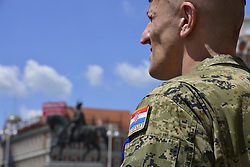 May 27, 2017 - Zagreb, Croatia - Croatian army marking the 26th anniversary of the Croatian Armed Forces at Ban Josip Jelacic square in Zagreb, Croatia, on 27 May 2017. (Credit Image: © Alen Gurovic/NurPhoto via ZUMA Press)