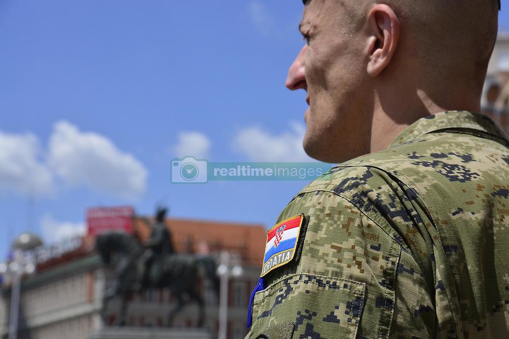 May 27, 2017 - Zagreb, Croatia - Croatian army marking the 26th anniversary of the Croatian Armed Forces at Ban Josip Jelacic square in Zagreb, Croatia, on 27 May 2017. (Credit Image: © Alen Gurovic/NurPhoto via ZUMA Press)