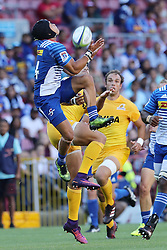 Cheslin Kolbe of the Stormers  during the Super Rugby match between DHL Stormers and Jaguares held at DHL Newlands in Cape Town, South Africa on the 4th March 2017.<br /> <br /> Photo by Ron Gaunt/Villar Press
