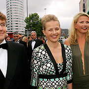 NLD/Amsterdam/20070623 - Inloop Amsterdamdiner 2007, Mabel Wisse Smit en partner Prins Johan Friso en zus Nicolien