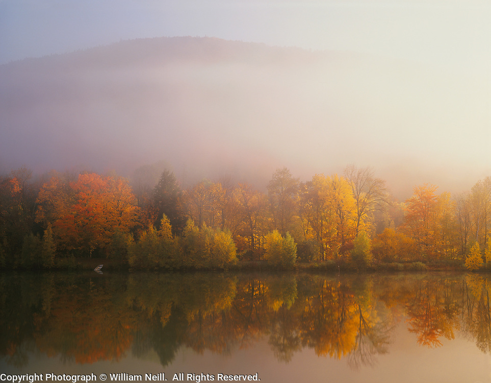 King's Pond with morning mist, Green Mountain National Forest, Vermont  1991