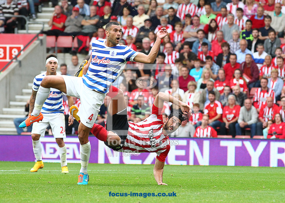 Graziano Pelle ( R ) of Southampton scores to make it 2-1 during the Barclays Premier League match at the St Mary's Stadium, Southampton<br /> Picture by Paul Terry/Focus Images Ltd +44 7545 642257<br /> 27/09/2014