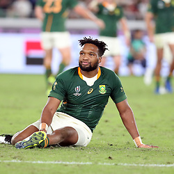 Lukhanyo Am during the Rugby World Cup Final match between South Africa Springboks and England Rugby World Cup Final at the International Stadium Yokohama  Japan.Saturday 02 November 2019. (Mandatory Byline -Steve Haag Sports Hollywoodbets)