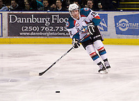 KELOWNA, CANADA, DECEMBER 27: Shane McColgan #18 of the Kelowna Rockets looks for the pass against the Spokane Chiefs at the Kelowna Rockets on December 7, 2011 at Prospera Place in Kelowna, British Columbia, Canada (Photo by Marissa Baecker/Getty Images) *** Local Caption ***