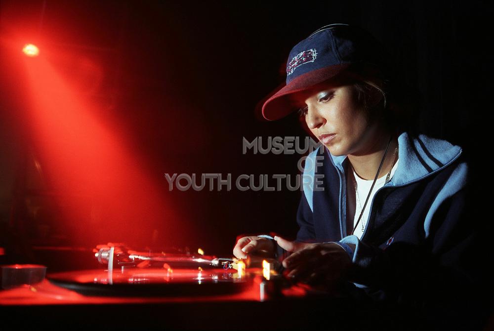 DJ Rap, DJing with red light, World Dance. 8 Nov 1997