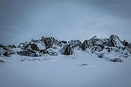 Le vent a soufle la neige sur les haut de Nax en mars 2017 (OMAIRE)