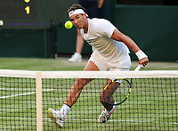 Tennis - 2017 Wimbledon Championships - Week One, Wednesday [Day Three]<br /> <br /> Men's Singles, Second Round match<br /> Rafael Nadal (GBR) vs Donald Young (USA) <br /> <br /> Rafael Nadal  on Centre court <br /> <br /> COLORSPORT/ANDREW COWIE