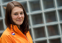22-03-2017 NED: Teampresentatie EK Atletiek Indoor, Arnhem<br /> Maureen Koster tijdens de teampresentatie van het atletiek EK indoor op Papendal.