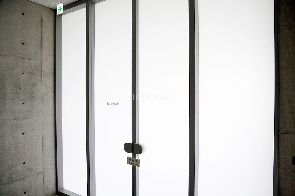 doors to board members room Architecture Tadao Ando Noshima Japan