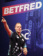 Max Hopp during the World Matchplay Darts 2019 at Winter Gardens, Blackpool, United Kingdom on 23 July 2019.