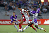 Fotball<br /> Frankrike 2004/05<br /> Toulouse v Ajaccio<br /> 11. september 2004<br /> Foto: Digitalsport<br /> NORWAY ONLY<br /> ANDRE LUIS (AJA) / ACHILLE EMANA (TOU)