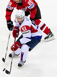 Mitja Robar of Slovenia during ice-hockey match between Austria and Slovenia of Group G in Relegation Round of IIHF 2011 World Championship Slovakia, on May 7, 2011 in Orange Arena, Bratislava, Slovakia. (Photo By Vid Ponikvar / Sportida.com)