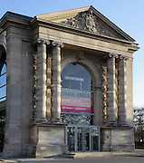 Galerie Nationale du Jeu de Paume, 19th century, Tuileries Gardens, Paris, France. Constructed as a tennis court for Napoleon III (1808-73) the building became a venue for exhibitions in 1909 and a full museum in 1922. It housed Impressionist Art 1947-87, and was then renovated to become a Photography Museum, opening in 1991. Picture by Manuel Cohen