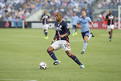 August 20, 2017 - New York, New York, United States - Teal Bunbury (10) of New England Revolution controls ball during regular MLS game against NYC FC on Yankee stadium NYC FC won 2 - 1  (Credit Image: © Lev Radin/Pacific Press via ZUMA Wire)