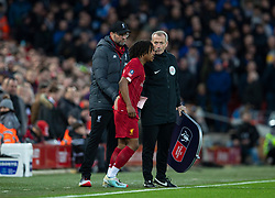 LIVERPOOL, ENGLAND - Sunday, January 5, 2020: Liverpool's substitute Yasser Larouci comes on during the FA Cup 3rd Round match between Liverpool FC and Everton FC, the 235th Merseyside Derby, at Anfield. (Pic by David Rawcliffe/Propaganda)
