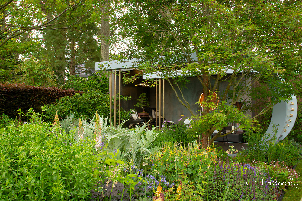 The Morgan Stanley Garden designed by Chris Beardshaw and winner of a gold medal in the show garden category at the Chelsea Flower Show 2019