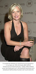 TV presenter MARIELLA FROSTRUP at a reception in London on 15th October 2001.	OTB 4