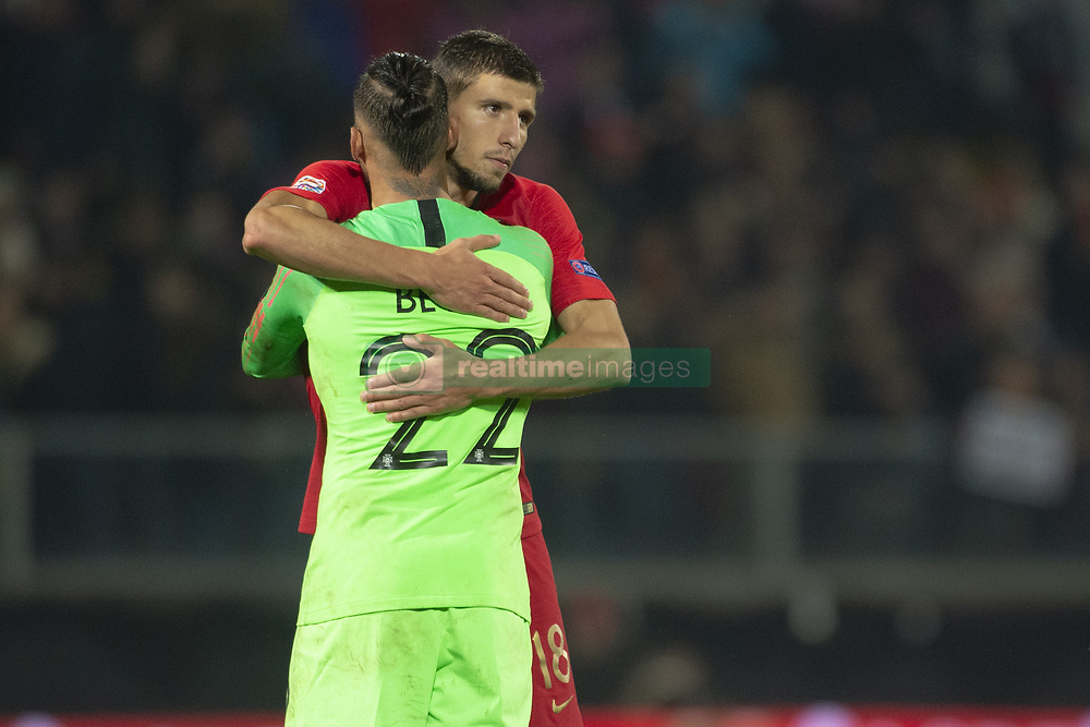 November 20, 2018 - Guimaraes, Portugal - Beto and Ruben Dias of Portugal during the UEFA Nations League A Group 3 match between Portugal and Poland at Estadio D. Afonso Henriques in Guimaraes, Portugal on November 20, 2018  (Credit Image: © Andrew Surma/NurPhoto via ZUMA Press)