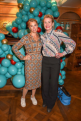 Left to right, Assia Webster and Erin Morris at the launch of the Fortnum & Mason Christmas & Other Winter Feasts Cook Book by Tom Parker Bowles held at Fortnum & Mason, 181 Piccadilly, London, England. 17 October 2018.