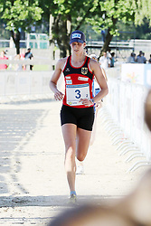 30.06.2015, Olympiapark Berlin, Berlin, GER, moderner Fünfkampf WM, Staffelbewerb Damen, im Bild Olympiasiegerin Lena Schoeneborn (SSF Bonn 1905) kam im Staffelwettbewerb nur auf dem siebten Rang ins Ziel // during Women's relay race of the the world championship of Modern Pentathlon at the Olympiapark Berlin in Berlin, Germany on 2015/06/30. EXPA Pictures © 2015, PhotoCredit: EXPA/ Eibner-Pressefoto/ Hundt<br /> <br /> *****ATTENTION - OUT of GER*****