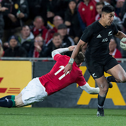 Rieko Ioane during game 7 of the British and Irish Lions 2017 Tour of New Zealand, the first Test match between  The All Blacks and British and Irish Lions, Eden Park, Auckland, Saturday 24th June 2017<br /> (Photo by Kevin Booth Steve Haag Sports)<br /> <br /> Images for social media must have consent from Steve Haag