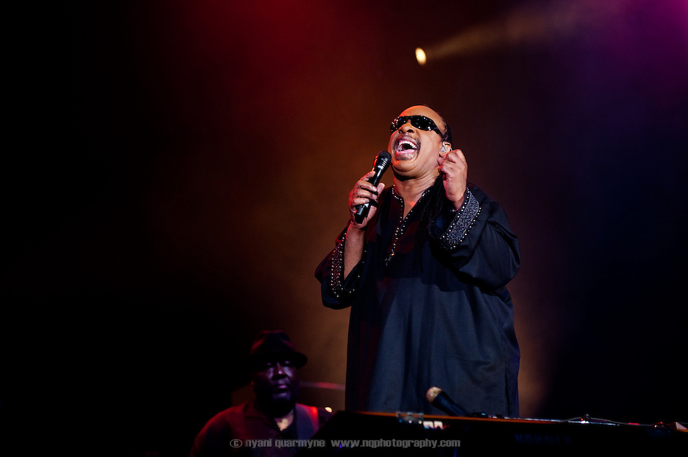Stevie Wonder performs on the opening night of the Montreal Jazz Festival in Montreal, Canada on 30 June 2009.