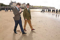 © Licensed to London News Pictures. 06/06/2017. Normandy, France. Former leader of UKIP, NIGEL FARAGE  during a visit to Arromanches Beach in Normandy, France to mark the anniversary of the D-Day landings on June 1944.. Photo credit: Jason Bryant/LNP