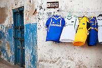 T-shirts for sale in Stone Town, Zanzibar, Tanzania