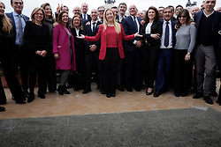 Giorgia Meloni with the newly elected members of Parliament for Fratelli d'Italia party. Roma 15 March 2018. Christian Mantuano / OneShot