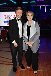 ANNE DIAMOND and her son JAKE at the Soldiering On Awards held at the Park Plaza Hotel, Westminster Bridge, London on 5th April 2014.