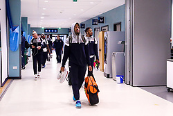 Bristol Flyers arrive for the pre-season game against Worcester Wolves - Photo mandatory by-line: Robbie Stephenson/JMP - 17/09/2018 - BASKETBALL - University of Worcester - Worcester, England - Worcester Wolves v Bristol Flyers - Pre-season friendly