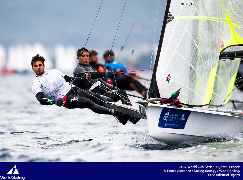 The 2017 World Cup Series in Hyères, France from 23-30 April will welcome over 540 sailors from 52 nations racing across the ten Olympic events as well as Open Kiteboarding and the 2.4 Norlin OD, a Para World Sailing event. @Pedro Martinez / Sailing Energy / World Sailing