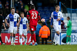 Billy Bodin of Bristol Rovers looks dejected after Barrow win 1-2 - Rogan Thomson/JMP - 04/12/2016 - FOOTBALL - Memorial Stadium - Bristol, England - Bristol Rovers v Barrow AFC - FA Cup Second Round.