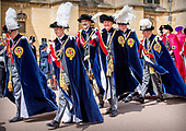 Koninklijk Paar bezoekt Windsor in het Verenigd Koninkrijk