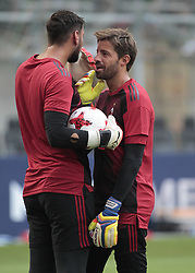 August 3, 2017 - Milan, Italy - Marco Storari and Gianluigi Donnarumma anduring the preliminaries of Europa League 2017/2018 match between Milan v Craiova, in Milan, on august 3, 2017  (Credit Image: © Loris Roselli/NurPhoto via ZUMA Press)