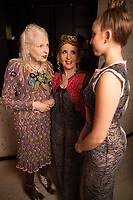 Vivienne Westwood with Afton and Gillian McKeith - SUSHISAMBA hosted a glittering party at their vibrant restaurant to celebrate the 10th birthday of Cool Earth, their charity partner that works to halt rainforest destruction. Celebrity guests included Dame Vivienne Westwood, Daisy Lowe, Leah Wood, Alexandra Richards, Julien Macdonald, Jasmine Hemsley, Jack Guinness and Savannah Miller. Guests ate a special menu devised by SUSHISAMBA's Chef Director Claudio Cardoso using ingredients sourced directly from the rainforest in select dishes including Seasonal Vegetable Tempura, El Topo and Welcome to the Rainforest dessert and drank Yuzu Gin Fizz and a special Ashaninka Forest Cocktail at the star studded party. Celebrity guests joined SUSHISAMBA CEO Shimon Bokovza and Cool Earth's Director Matthew Owen.